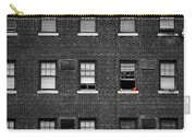 Brick Wall And Windows Carry-all Pouch
