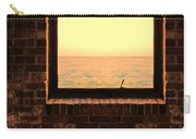 Brick Window Sea View Carry-all Pouch
