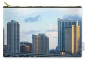 Brickell Key And Miami Skyline Carry-all Pouch