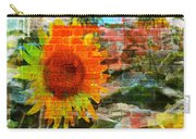 Bricks And Sunflowers Carry-all Pouch