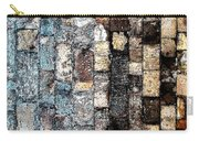 Bricks Of Turquoise And Gold Carry-all Pouch