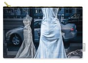 Bridal Dress Window Display In Ottawa Ontario Carry-all Pouch