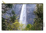 Bridal Veil Falls In Yosemite Valley In Spring- 2013 Carry-all Pouch