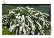 Bridal Wreath Spirea - White Flowers - Florist Carry-all Pouch