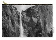 Bridalveil Falls In B And W Carry-all Pouch by Bill Gallagher