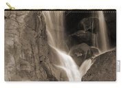Bridalveil Falls In Yosemite Sepia Version Carry-all Pouch