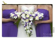 Bride And Bridesmaids With Wedding Bouquets Carry-all Pouch