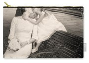 Bride And Daughter Kiss In Jackson Square New Orleans Carry-all Pouch