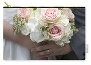 Bride And Groom Hold Wedding Bouquet Carry-all Pouch