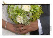 Bride And Groom With Wedding Bouquet Carry-all Pouch