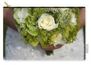 Bride Holding A Wedding Bouquet Carry-all Pouch