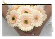 Bride Holding Gerbera Bouquet Carry-all Pouch