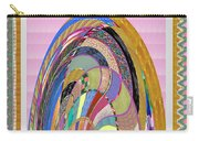 Bride In Layers Of Veils Accidental Discovery From Graphic Abstracts Made From Crystal Healing Stone Carry-all Pouch