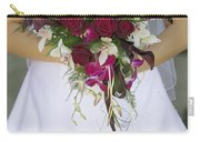 Brides Bouquet And Wedding Dress Carry-all Pouch
