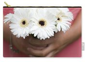 Bridesmaid Holding A Bouquet Of Berbera Carry-all Pouch