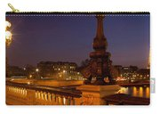 Bridge Across The River Lit Up At Dusk Carry-all Pouch