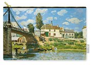 Bridge At Villeneuve-la-garenne Carry-all Pouch by Alfred Sisley