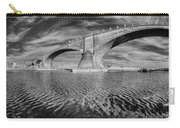 Bridge Curvature In Black And White Carry-all Pouch