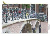 Bridge Over Canal With Bicycles  In Amsterdam Carry-all Pouch