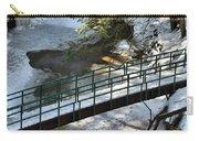 Bridge Over Frozen River Carry-all Pouch