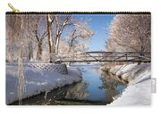 Bridge Over Icy Water Carry-all Pouch