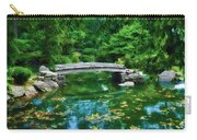 Bridge Over Koi Pond Carry-all Pouch