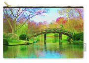 Bridge Over Lake In Spring Carry-all Pouch