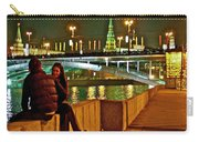 Bridge Over River Near The Kremlin At Night In Moscow-russia Carry-all Pouch