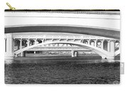 Bridge Panorama Black And White Carry-all Pouch