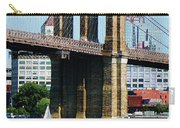 Bridge - Sailboat By The Brooklyn Bridge Carry-all Pouch