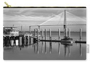 Bridge To Mount Pleasant - Black And White Carry-all Pouch