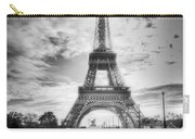 Bridge To The Eiffel Tower Carry-all Pouch by John Wadleigh