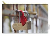 Bridge With Padlocks In Riga Carry-all Pouch