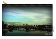 Bridge With White Clouds Vignette Carry-all Pouch