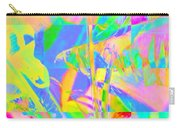 Bright Abstracted Banana Leaf - Square Carry-all Pouch