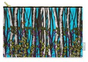 Bright Blue And Birch Carry-all Pouch