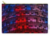 Bright Blue Red And Pink Illumination - Agbar Tower Barcelona Carry-all Pouch