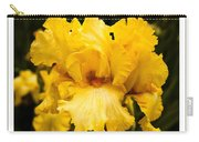 Bright Bright Spring Yellow Iris Flower Fine Art Photography Print  Carry-all Pouch