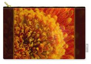 Bright Budding And Golden Abstract Flower Painting Carry-all Pouch