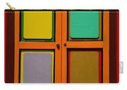 Bright Colorful Window Shutters With Four Panels Carry-all Pouch
