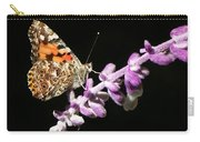 Painted Lady Butterfly On Purple Flower Carry-all Pouch