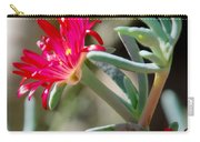 Bright Pink Flower Carry-all Pouch