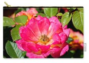 Bright Pink Rose Carry-all Pouch