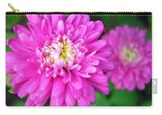 Bright Pink Zinnia Flowers Carry-all Pouch
