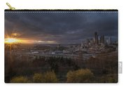 Bright Seattle Sunstar Dusk Skyline Carry-all Pouch