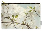 Bright White Dogwood Flowers Against A Pastel Blue Sky With Dreamy Bokeh Carry-all Pouch