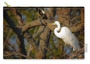 Bright White Heron Carry-all Pouch