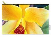 Bright Yellow And Red Cattleya Orchid Carry-all Pouch