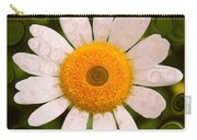 Bright Yellow And White Daisy Flower Abstract Carry-all Pouch