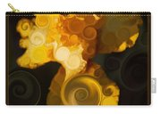 Bright Yellow Bearded Iris Flower Abstract Carry-all Pouch